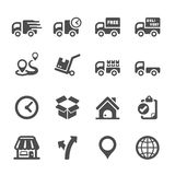 Logistic icon set 2, vector eps10 Royalty Free Stock Images
