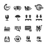 Logistic icon set 6, vector eps10 Royalty Free Stock Photography
