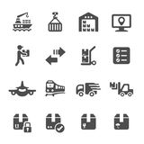 Logistic icon set 3, vector eps10 Royalty Free Stock Images