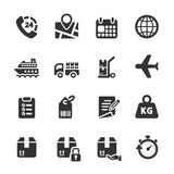 Logistic icon set 4, vector eps10 Royalty Free Stock Images