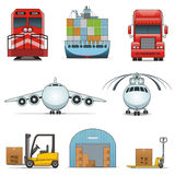 Logistic icons Stock Image