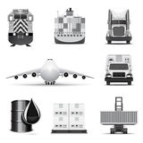 Logistic icons | B&W series Stock Image