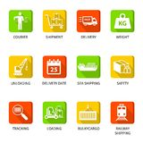 Logistic icons buttons Royalty Free Stock Photography