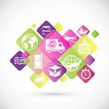 Logistic icons design royalty free illustration