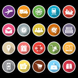 Logistic icons with long shadow Stock Images