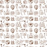 Logistic icons seamless pattern Royalty Free Stock Image