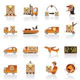 Logistic icons set Royalty Free Stock Photos