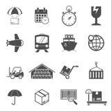 Logistic icons set Stock Photo