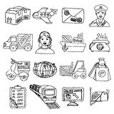 Logistic Icons Set royalty free illustration
