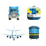 Logistic Icons Set Royalty Free Stock Photography