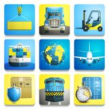Logistic Icons Set Stock Photography