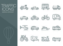 Logistic icons set vector Stock Photography