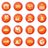 Logistic icons vector set Royalty Free Stock Images