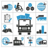 Logistic icons royalty free illustration