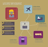 Logistic infographic flat icons set Stock Images