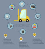 Logistic infographic flat icons set Stock Image