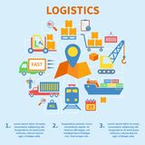 Logistic infographic icons flat stock illustration