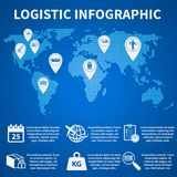 Logistic infographic icons Royalty Free Stock Photos
