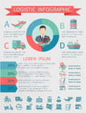 Logistic infographics set Stock Photos