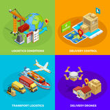 Logistic Isometric Concept vector illustration