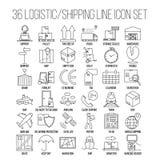 Logistic Line Icon Set Stock Photo