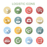 Logistic long shadow icons Royalty Free Stock Photography