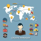 Logistic Manager Infographics Stock Photo