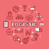 Logistic minimal outline icons Royalty Free Stock Photos