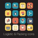 Logistic and packing icon Stock Photos