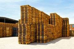 Logistic pallets Royalty Free Stock Image