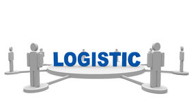 Logistic. People around a Logistic text Stock Photos