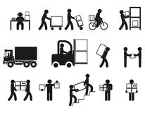 Logistic people pictograms Stock Image