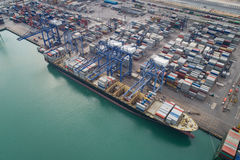 Logistic port Royalty Free Stock Images
