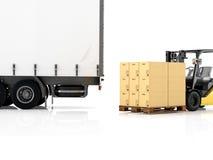 logistic rendição 3d Imagem de Stock Royalty Free