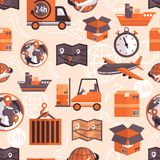 Logistic seamless pattern Royalty Free Stock Photos