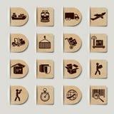 Logistic Services Labels Set Stock Photo