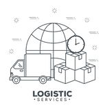 Logistic services set icons Stock Photography