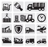 Logistic and shipping icon set vector illustration