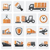 Logistic and shipping icon set stock illustration