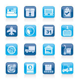 Logistic and Shipping icons Stock Photography