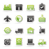 Logistic and Shipping icons Royalty Free Stock Photos