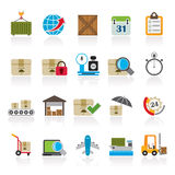Logistic and Shipping icons Stock Image