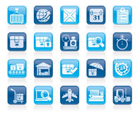 Logistic and Shipping icons Stock Photo