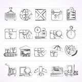 Logistic and Shipping icons Stock Images
