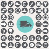 Logistic and shopping icons set. Royalty Free Stock Images
