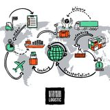 Logistic Sketch Concept vector illustration
