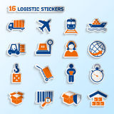 Logistic stickers set Stock Photo