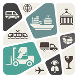 Logistic theme background stock illustration