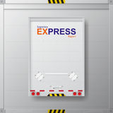 Logistic transport business corporate Identity Templates for flyers brochure report. Logistic transport business corporate Identity Templates for flyers Stock Images