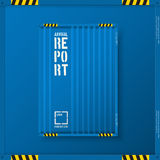 Logistic transport business templates for flyers brochure. Shipping industry Annual report folder.  Vector Stock Images